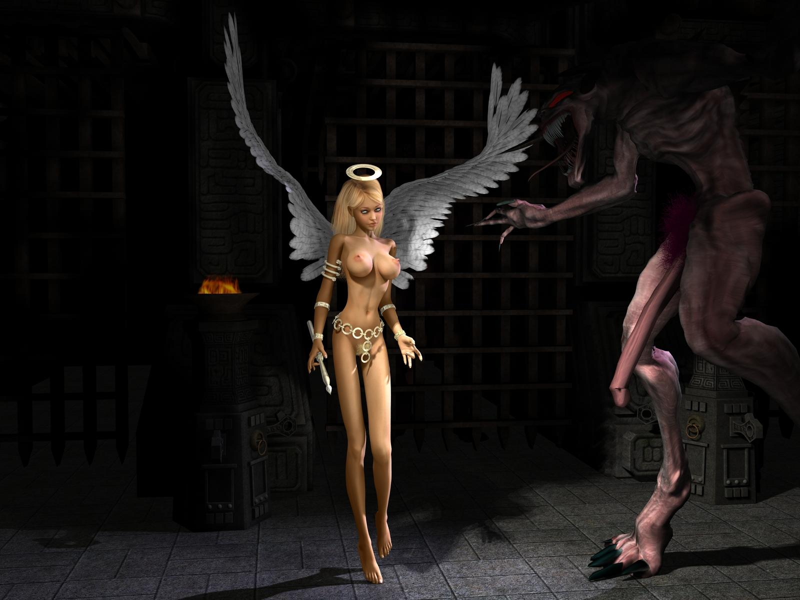 Fantasy 3d angele model nude nude image