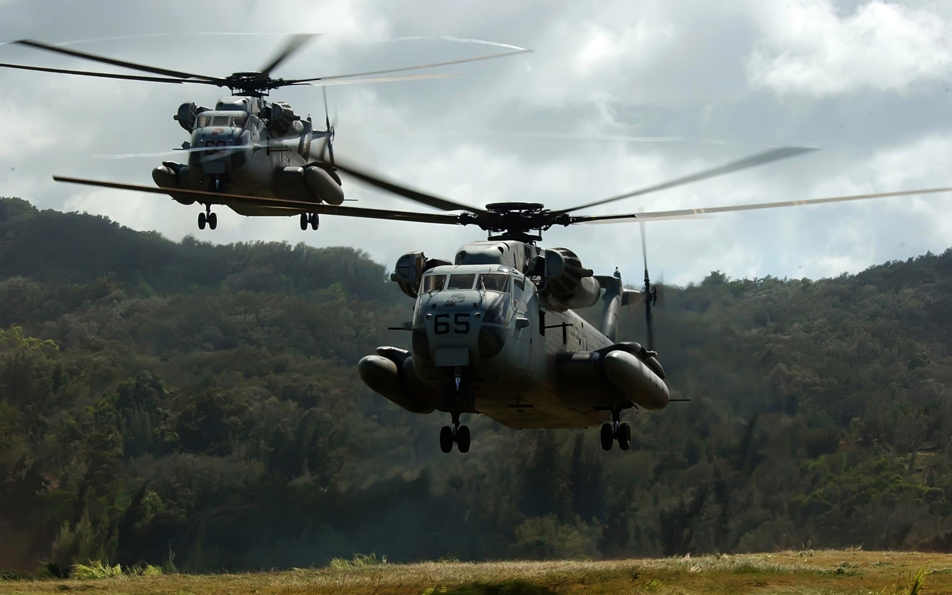 two ch 53 d sea stallion helicopters wide
