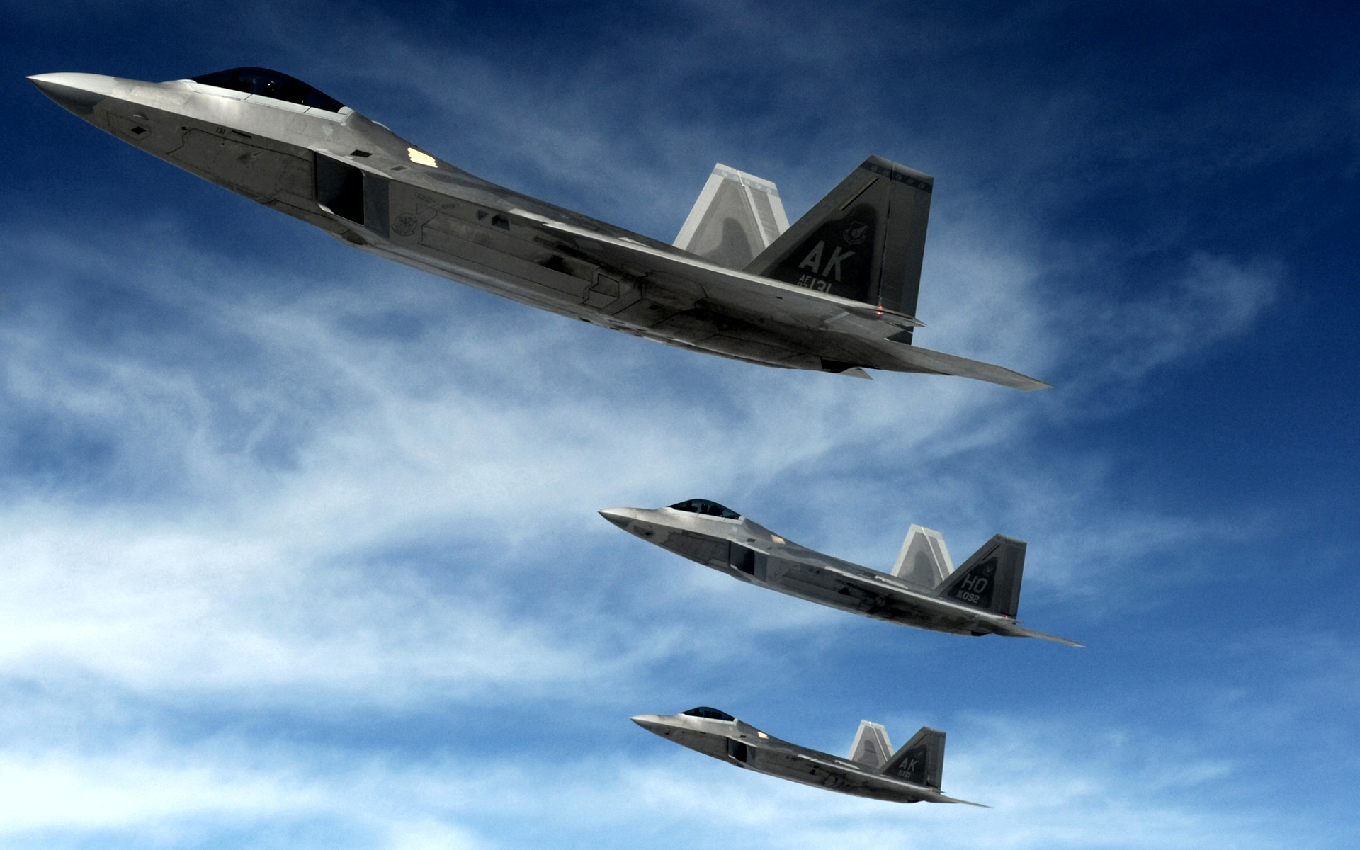 f 22 raptors stealth fighters wide
