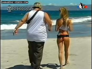 Rocio Guirao Diaz ass at the beach video
