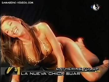 Catherine Fulop sexy hips in thong