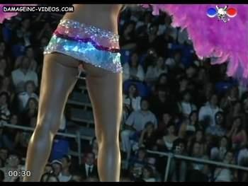 hot upskirt model in miniskirt