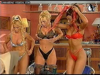 Argentina showgirls strip on tv
